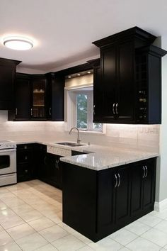 37 Modern Kitchens For Starting Your Home Improvement Black Kitchen Cabinets hom. - 37 Modern Kitchens For Starting Your Home Improvement Black Kitchen Cabinets home Improvement kitch - Kitchen Room Design, Modern Kitchen Design, Home Decor Kitchen, Kitchen Interior, Kitchen Ideas, Diy Kitchen, Coastal Interior, Eclectic Kitchen, Kitchen Inspiration