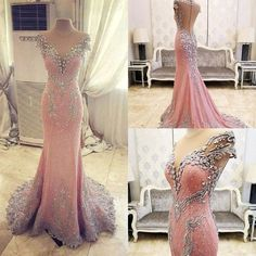 Cheap mermaid prom, Buy Quality mermaid prom dress directly from China prom dresses Suppliers: Sparkly Beading Mermaid Prom Dresses Sheer Jewel Neck Cap Sleeve Elegant Evening Dress Custom Crystal Formal Party Gowns 2017 Mermaid Evening Dresses, Evening Gowns, Prom Gowns, Ball Gowns, Gowns 2017, Pageant Dresses, Wedding Gowns, Wedding Venues, Quinceanera Dresses