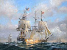 Patrick OBrien. USS WASP and HMS FROLIC. J. Russell Jinishian Gallery, Inc.