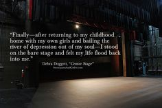 Emtpy Stage by Max Wolfe_Debra Doggett quote WP