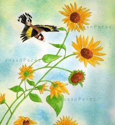 Animal Drawings, Insects, Watercolor, Birds, Nature, Animals, Painting, Pen And Wash, Animales