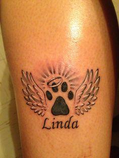 Tattoo in memory of my dog Linda