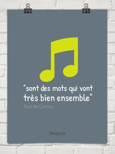 """sont des mots qui vont très bien ensemble"" - Paul McCartney #music #quote #PaulMcCartney #Michelle #theBeatles #French #lyrics #lovely"