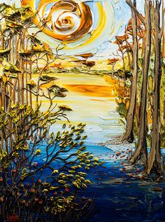30x40 Lakescape By: Justin Gaffrey