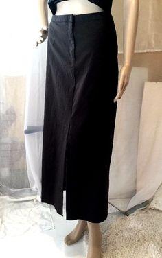 "$23,50 FREE SHIPPING Venezia Size 14 Stretch Brown Rayon Pencil Long Skirt 13"" Slit Front Fly Zipper #Venezia #ALine"