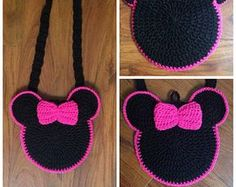 free crochet minnie mouse purss patterns   Popular items for minnie mouse purse