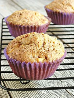 Apple Pie Muffins: Muffins with apple pie filling.