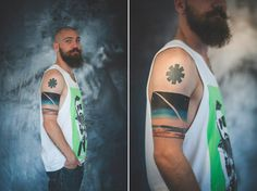 "My 6th tattoo ""Black silence"" made by Adra, Bratislava, Slovakia (RHCP asterisk was my first tattoo)"
