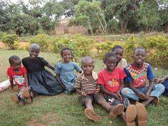 Children benefiting from CEI school projects in Jinja, Uganda.
