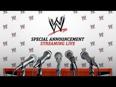 Watch the LIVE WWE Special Announcement on YouTube!