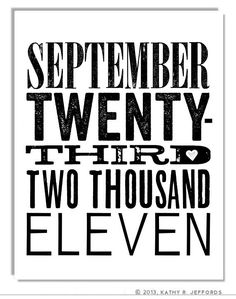 Custom Special Date Typographic Print. Personalized Art For Newlyweds. First Home Decor. Special Date Keepsake. Wedding Gift. Gotcha Day. via Etsy