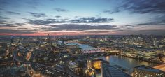 The view from Shangri-La Hotel at the Shard, London