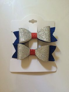 4th of July bows mommy