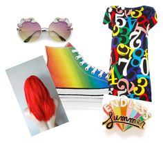"""""""Taste The Rainbow"""" by spencerchanel ❤ liked on Polyvore featuring Converse, ban.do and pride"""