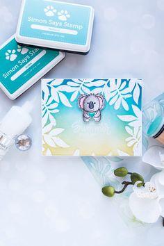 Simon Says Stamp   Sending Summer Your Way Card. Photo Tutorial by Yana Smakula #simonsaysstamp #stamping #handmadecard #cardmaking