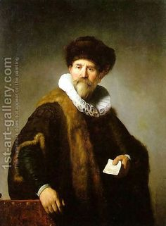 Portrait of Nicolaes Ruts 1631 by Rembrandt Van Rijn