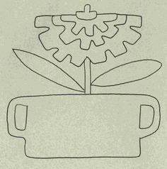 Wool Garden BOM - Zinnia Pattern WB-502