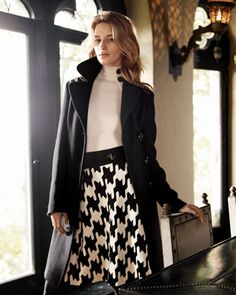 oversized houndstooth