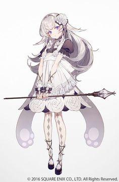 Anime art kawaii cute magic girl