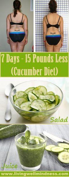 7 Days- 15 Pounds Less (Cucumber Diet