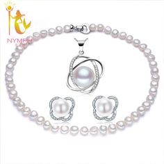 Fine Jewelry Natural Freshwater Pearl Necklace Earrings Pendant