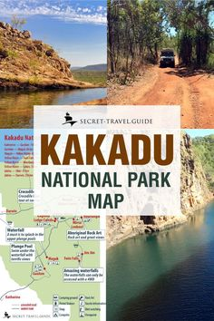 Which attrations can you enjoy inside Kakadu National Park in the Northern Territory of Ausralia? Wildman Wilderness Lodge, Places To Travel, Places To See, Outback Australia, Art Rupestre, Kakadu National Park, Australian Road Trip, Australia Travel Guide, National Parks Map