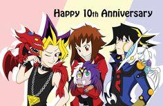 Yugioh 10th Anniversary by NebuNeferuYaoi.deviantart.com on @deviantART