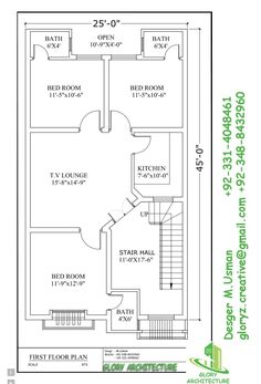 Simple Kitchen Elevation 25x40 feet ground floor plan | plans | pinterest | square meter
