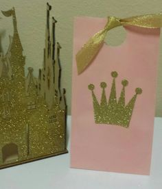 Pink Gold Princess Birthday party favor bags Perfect for pink and gold theme