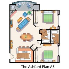 Duplex Floor Plans, Small House Floor Plans, Cabin Floor Plans, Two Bedroom Floor Plan, Modern Log Cabins, Narrow House, House Blueprints, Outdoor Kitchen Design, Sims House