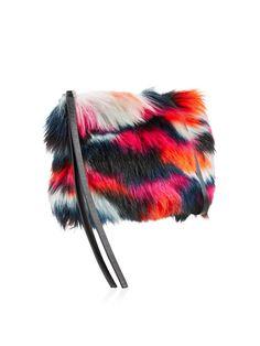 MCQ ALEXANDER MCQUEEN Faux Fur Clutch Bag - On Site Now.
