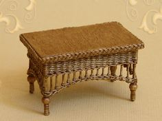 WC/318, wicker table, scale 1 : 12, made by Will Werson.