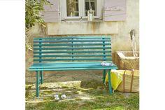 Thousands of images about ambiances jardin terrasse - Banc metallique exterieur ...