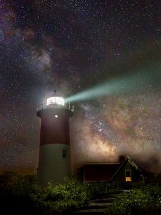 Cape Cod Celestial Outpost is a photograph by Bill Wakeley. The Milky Way Galaxy in the night sky at Nauset Beach Light, seen along the Cape Cod National Seashore, Eastham MA. Source fineartamerica.com