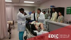 Estudiantes recrean una situación de emergencia, donde pusieron en práctica todo el conocimiento que han adquirido en sus respectivos programas de estudio. ¿Te interesa estudiar una carrera en salud? Podemos orientarte: http://estudia.ediccollege.edu/solicitud_informacion