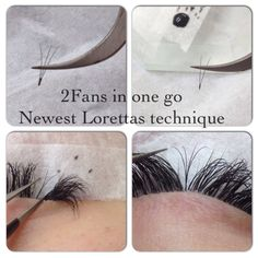 2fans in one go ,faster volume lashes
