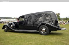 Canton Classic Car Museum's 1937 Packard Hearse-- on the showfield at the Glenmoor Gathering at the Glenmoor Country Club in Canton, Ohio.