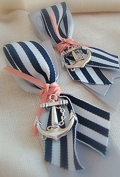 cute nautical anchors boutonnieres