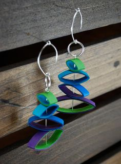 Modern Paper Earrings / Lightweight Earrings / by TheTangledRoot, $28.00