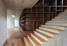 Maruma House by Fernanda Canales  - stair- & bookcases and shelves