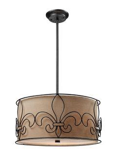 Wireform 3 Light Drum Pendant