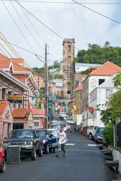 Jamaica- street scene downtown in Montego Bay