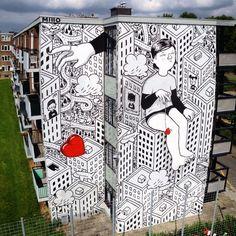 Nouvelles Peintures murales dans les Rues d'Italie par Millo (5)                                                                                                                                                                                 More