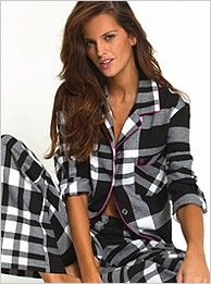 flannel Pajamas -- whether or not I look like a Victoria's Secret model!
