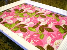 Cleverlyinspired: Frame turned into tray!