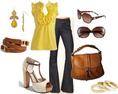 """Yellow In Spring"" by averbeek on Polyvore"