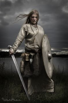 Shieldmaiden, A shieldmaiden was a woman who had chosen to fight as a warrior in Scandinavian folklore and mythology. They are often mentioned in sagas such as Hervarar saga and in Gesta Danorum.