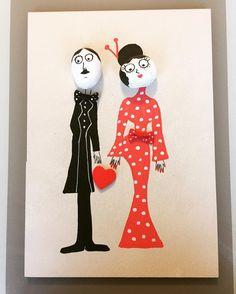 Merakli ciftler davette ❤️ Siparis icin mesajla bilgi alabilirsiniz #taşboyama #tasboyama #taşboyamasanatı #tasboyamasanati #pebbleart #handmade #elemegi #elyapimi #elboyamasi #ahsapboyama #ozeltasarim #kisiyeozeltasarim #crafts #crafty #craft #diy #siparisalinir