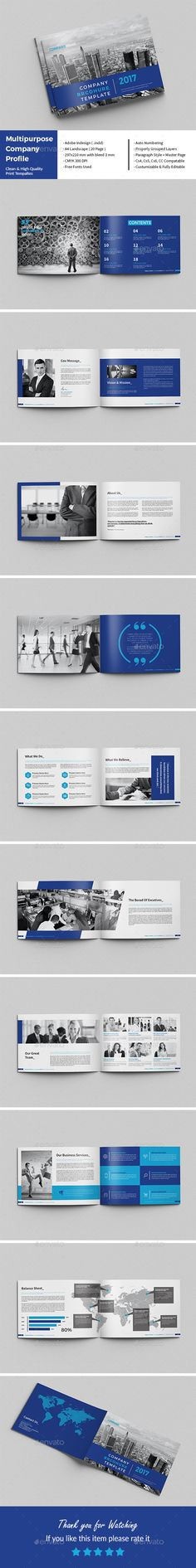 Company Profile 2017 Template INDD Company Profile Brochure - company profile sample download