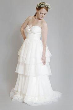 Monique Lhuillier 'Atelier' Silk Tulle Dress